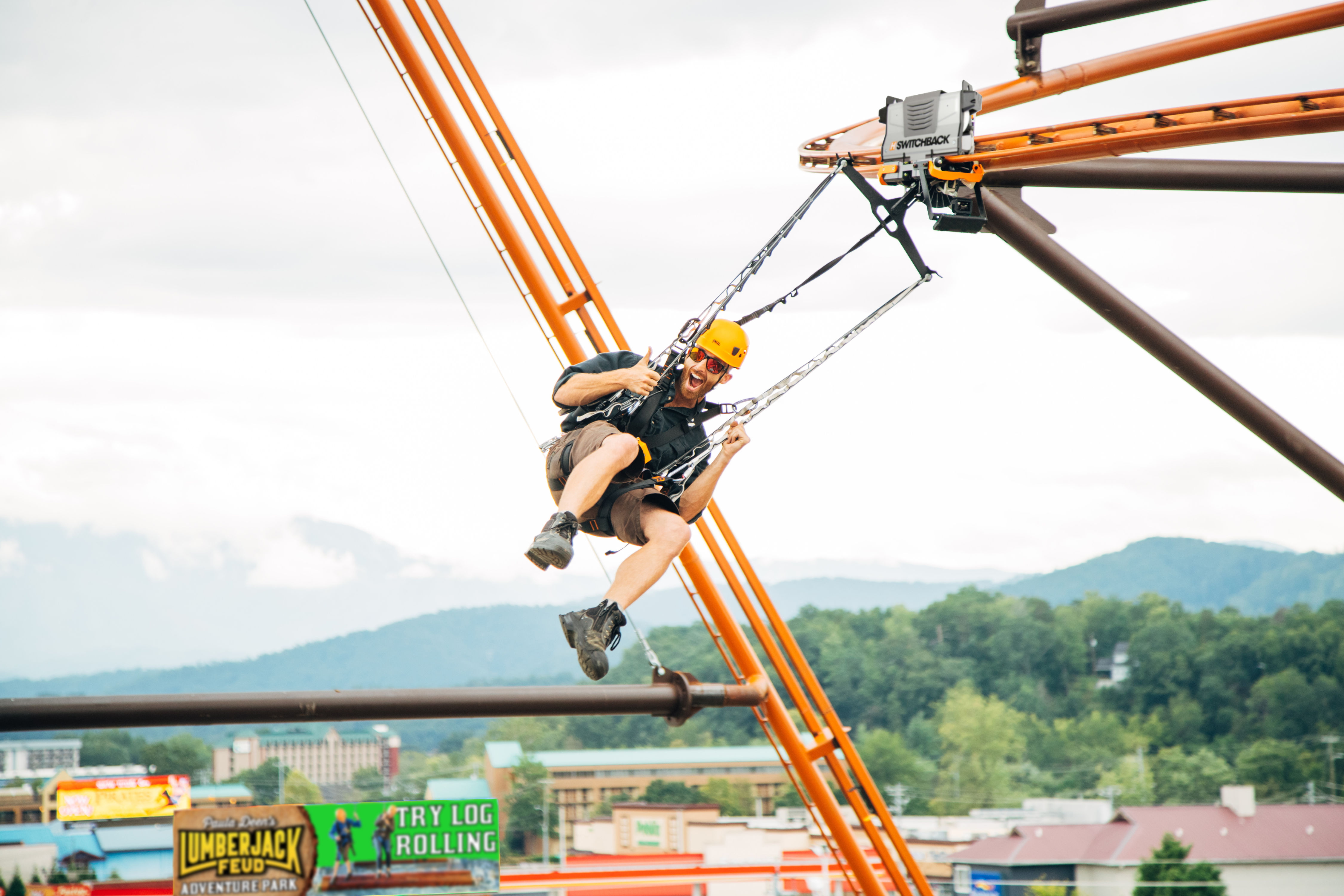 Pigeon Forge, Tennessee Is Now Home to the World's First Zipline Roller Coaster