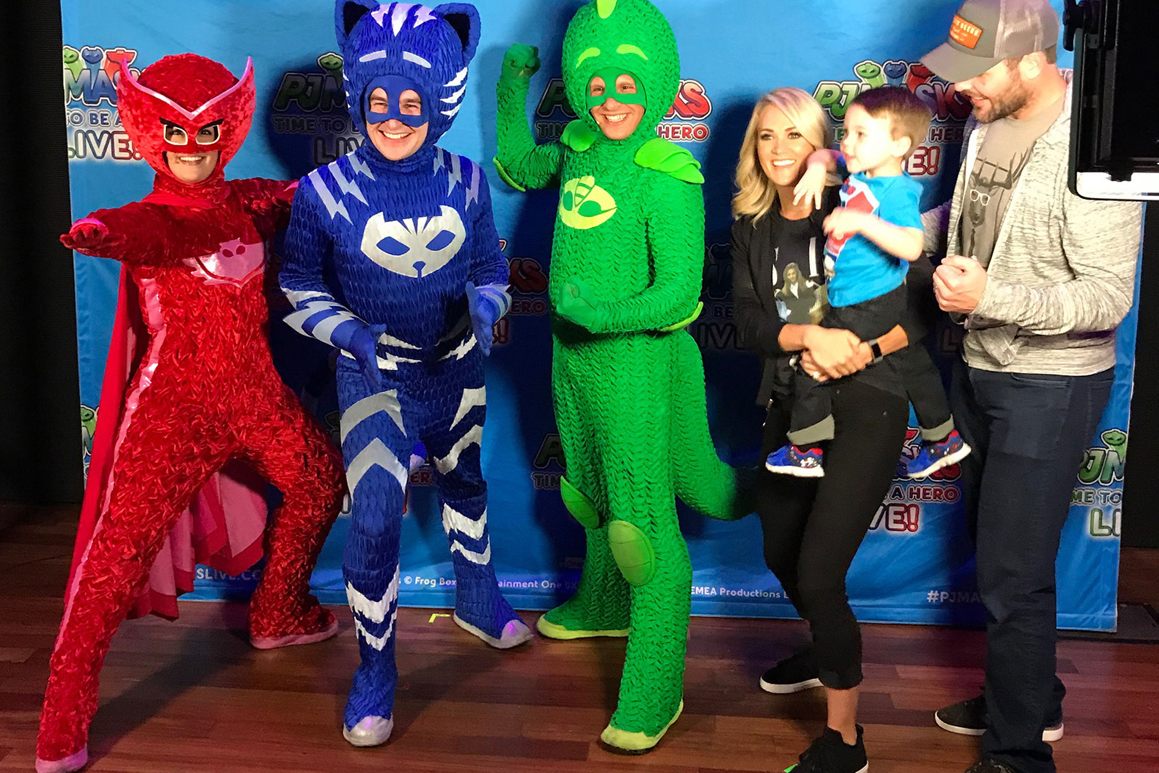Superhero in Training! Carrie Underwood Takes Son Isaiah to See PJ Masks Live - and Pose with the Characters