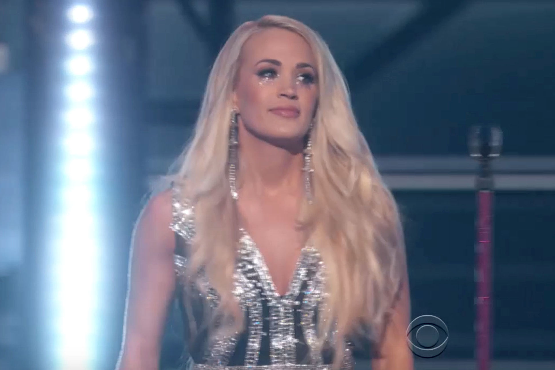 Carrie Underwood Tears Up During 'Cry Pretty' at ACMs in Emotional First Performance Since Injuring Face