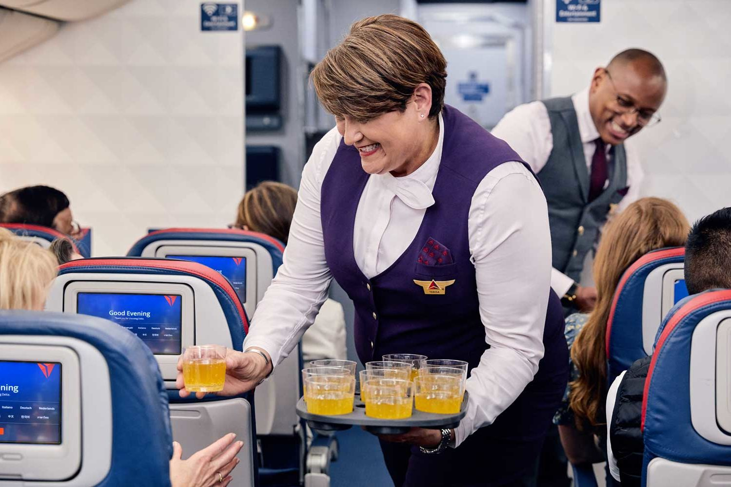 Delta Is Bringing Free Cocktails, Bistro-style Dining, and Hot Towel Service to Economy