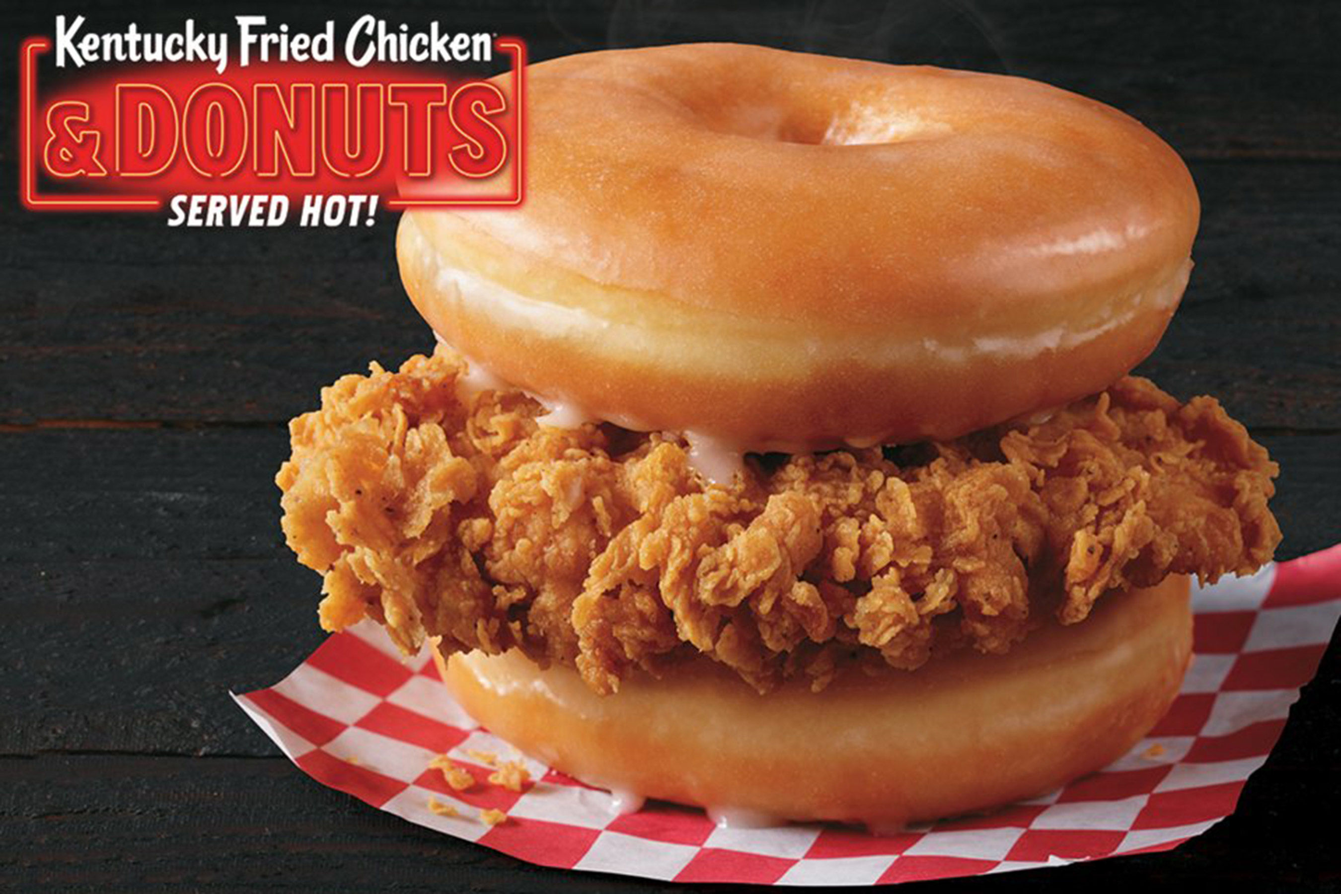 KFC Testing Fried Chicken Sandwich That's Between 2 Glazed Donuts