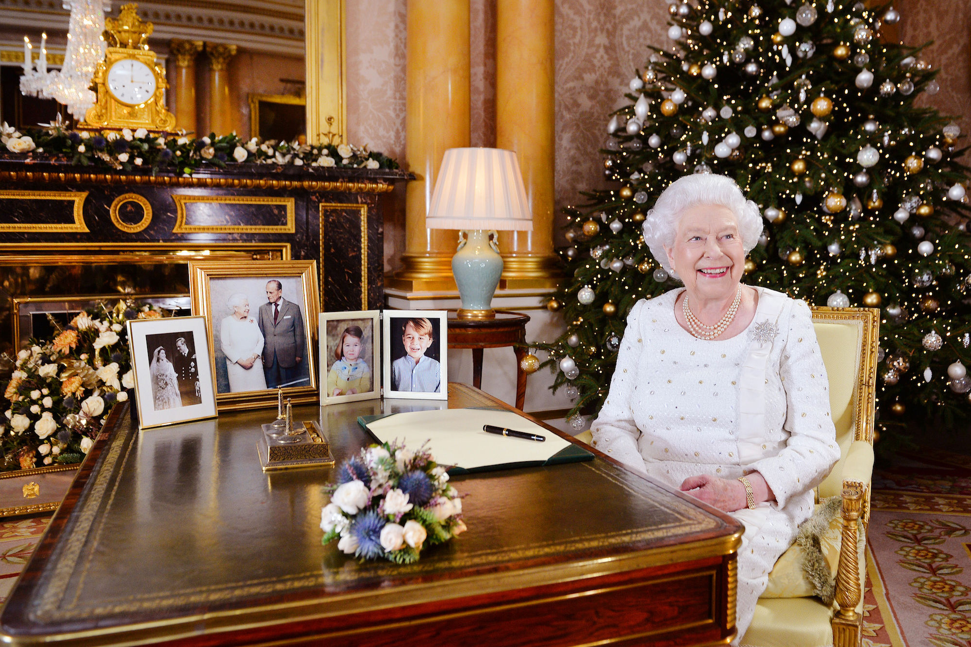 The Royal Family's Christmas Tree Is Just as Extra as You'd Expect