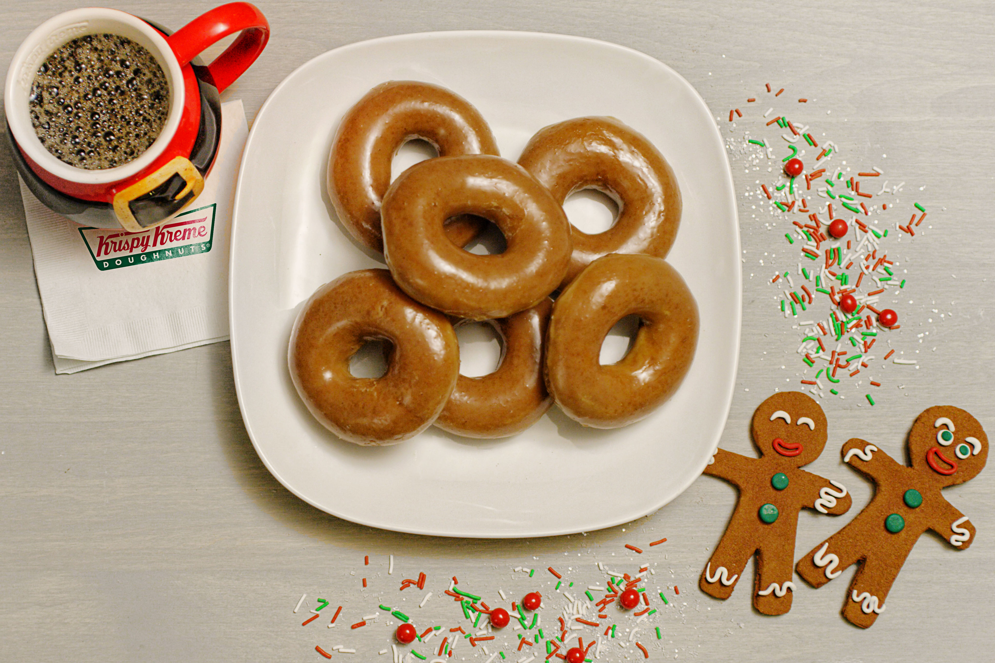 Krispy Kreme Is Debuting Gingerbread Glazed Donuts That Will Be Available for Just One Day