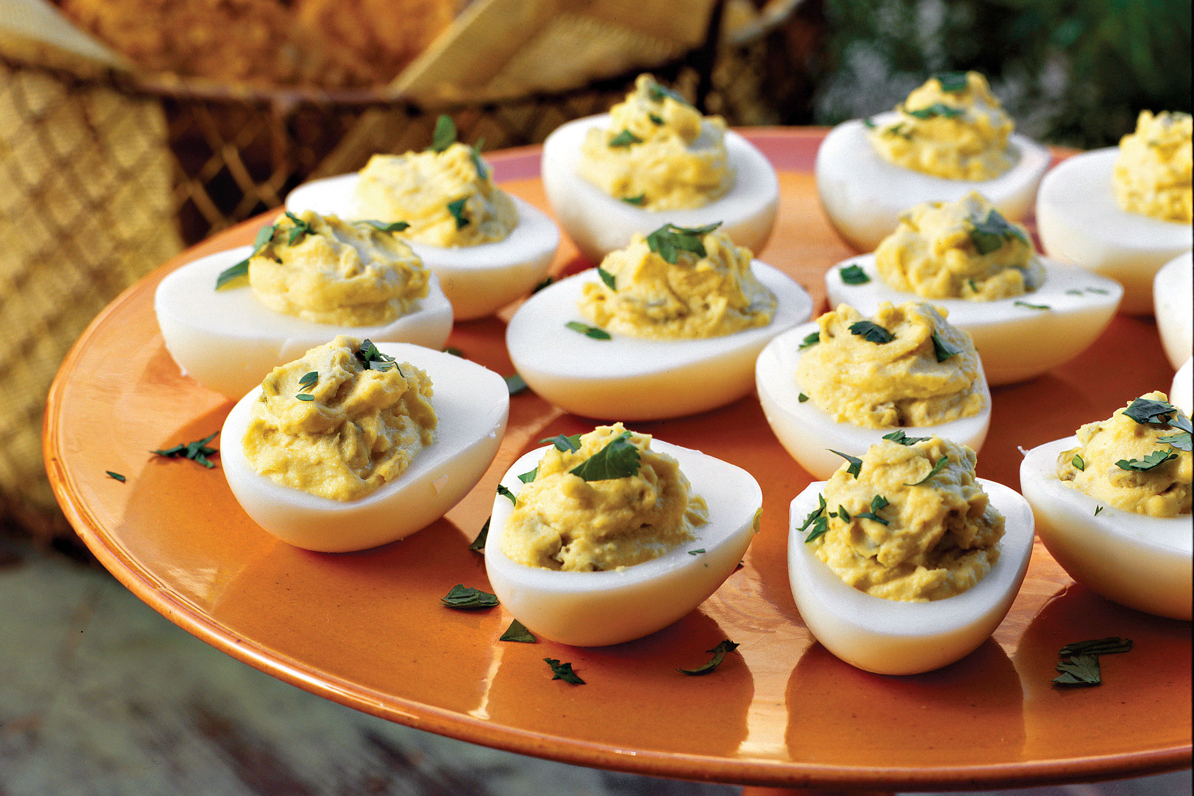 Here's What You Should Know About Serving Deviled Eggs on Biscuits
