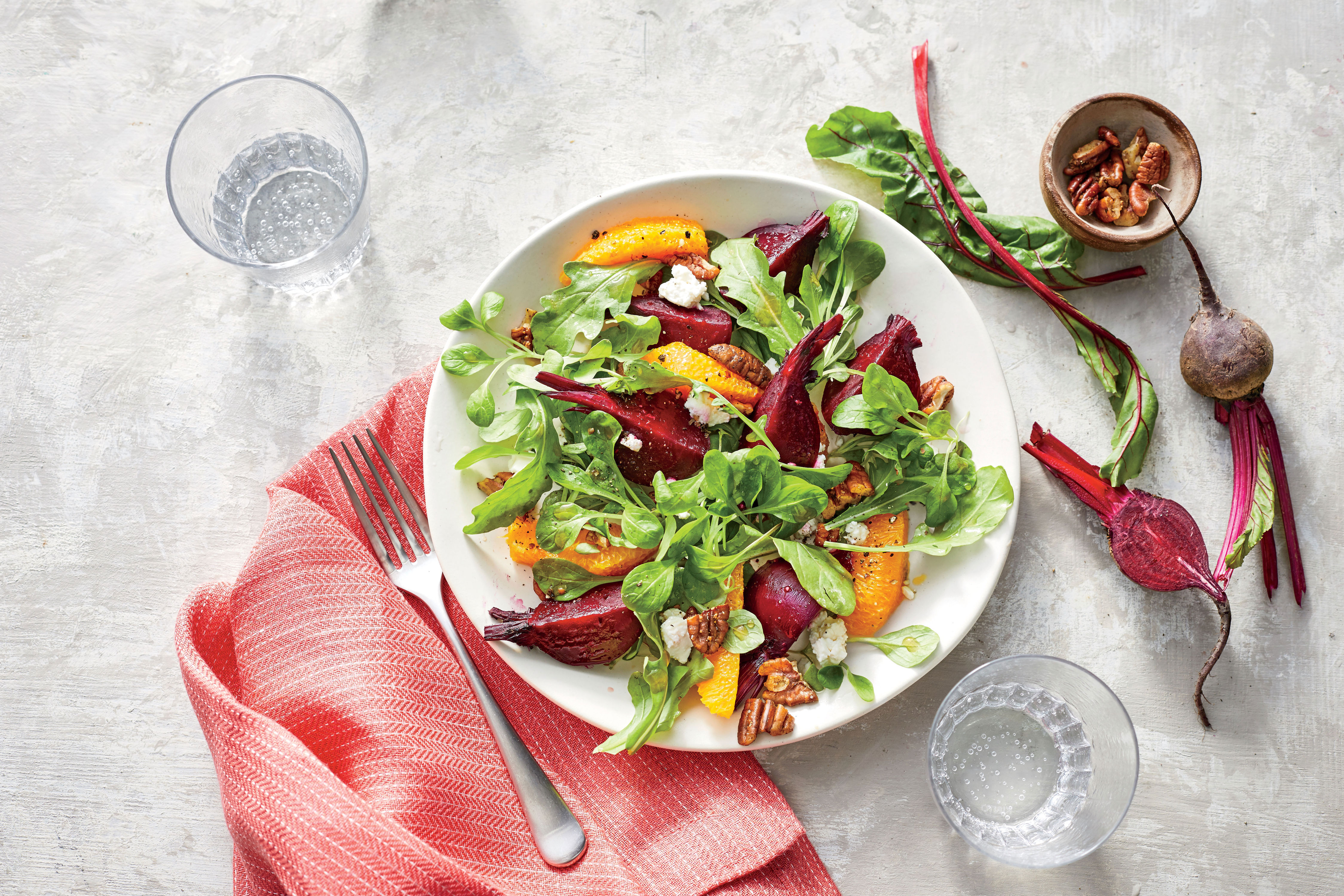 Beet-and-Orange Salad with Spiced Pecans Recipe