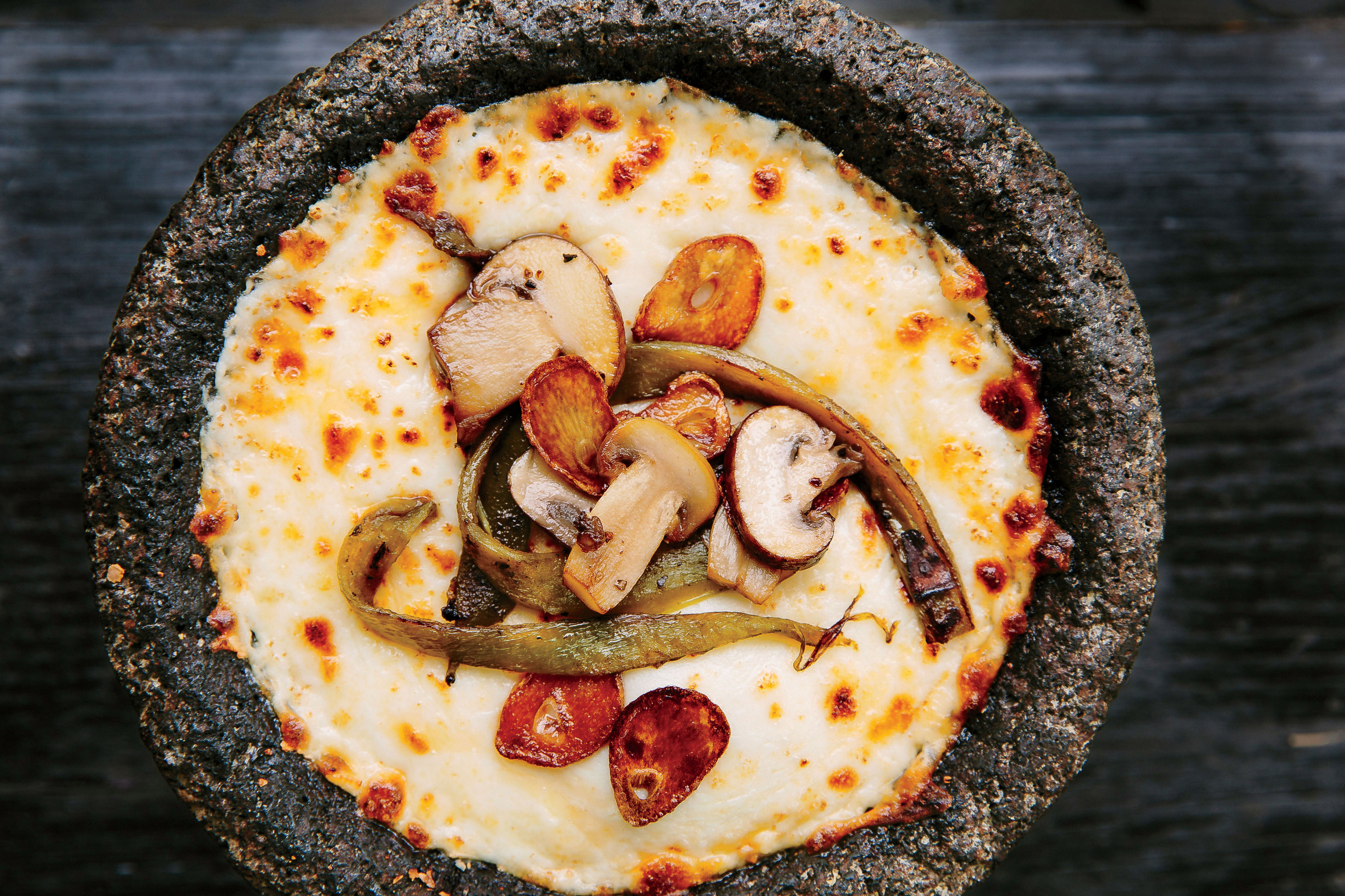 Queso Fundido with Mushrooms and Chiles Recipe