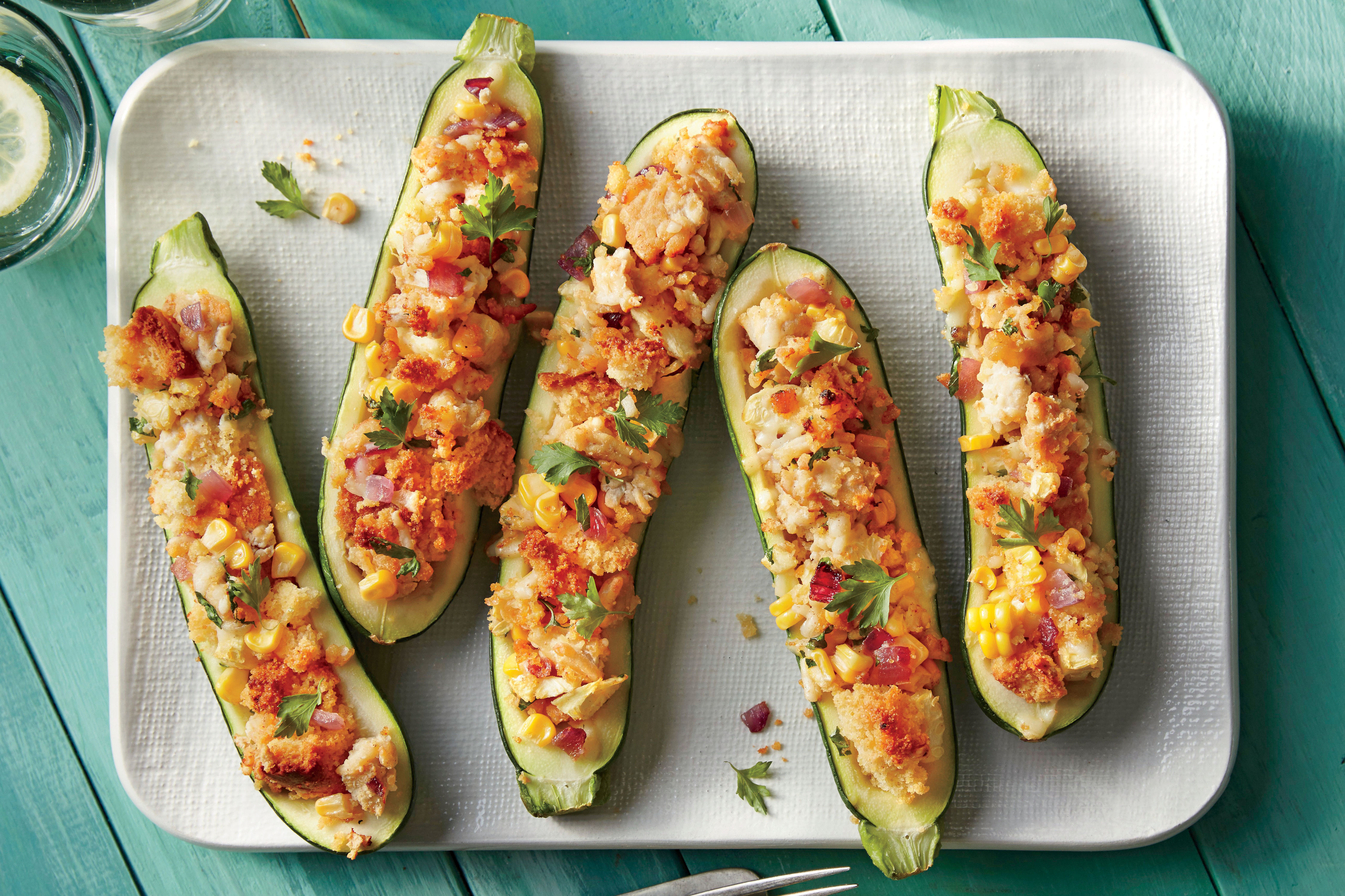 Cornbread-Stuffed Zucchini Recipe
