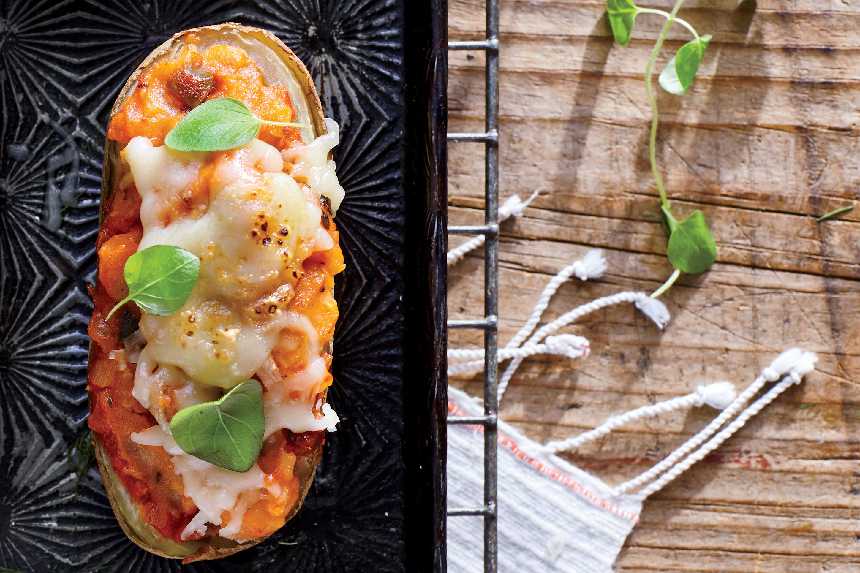 "Pizza ""Baked"" Potato Recipe"