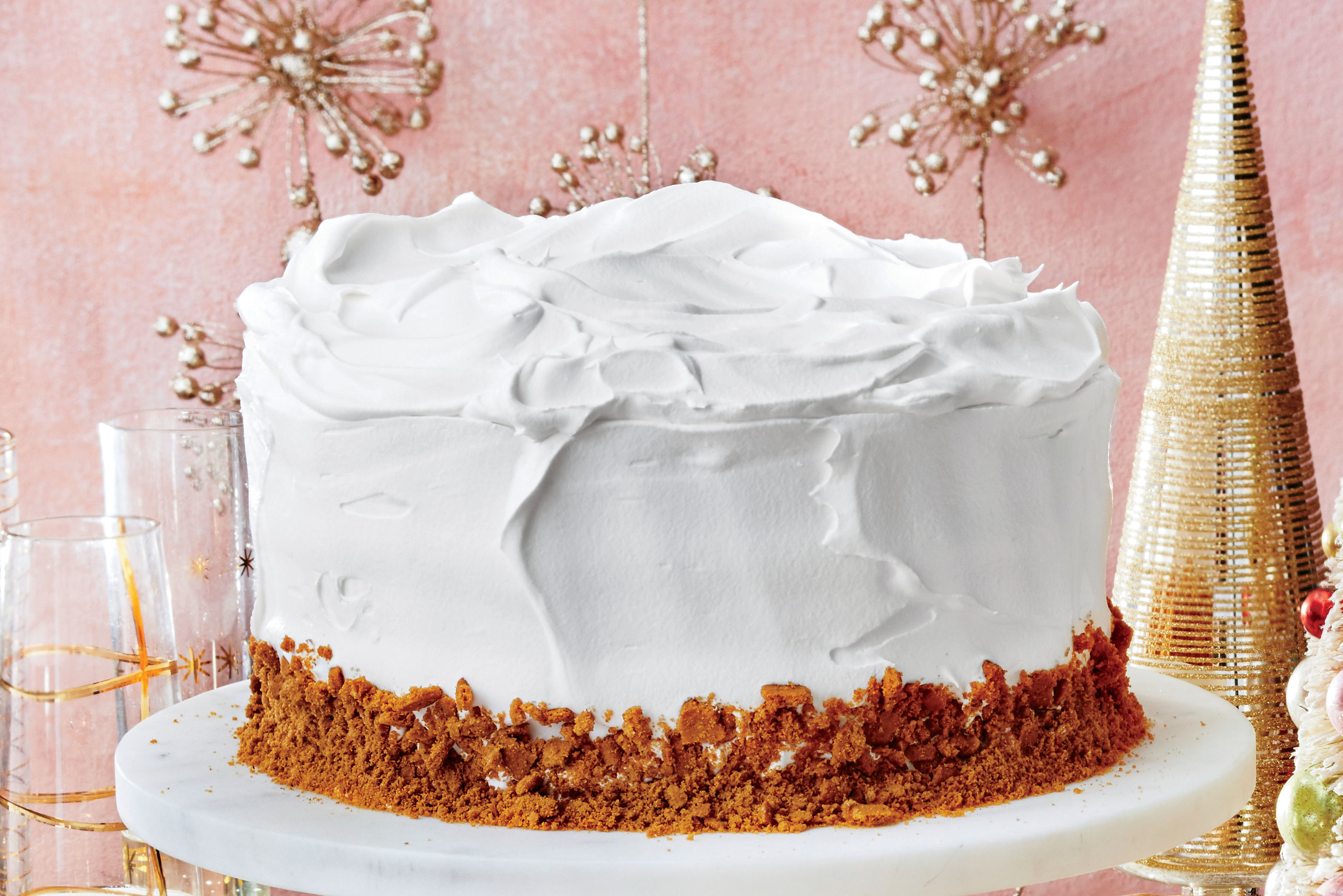 Gingerbread Latte Cake with Vanilla Whipped Cream Frosting Recipe