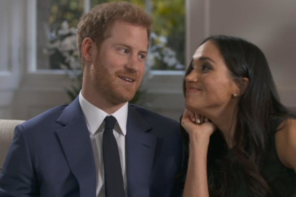 Meghan Markle and Prince Harry Giggle and Goof Off Behind-the-Scenes of Engagement Interview