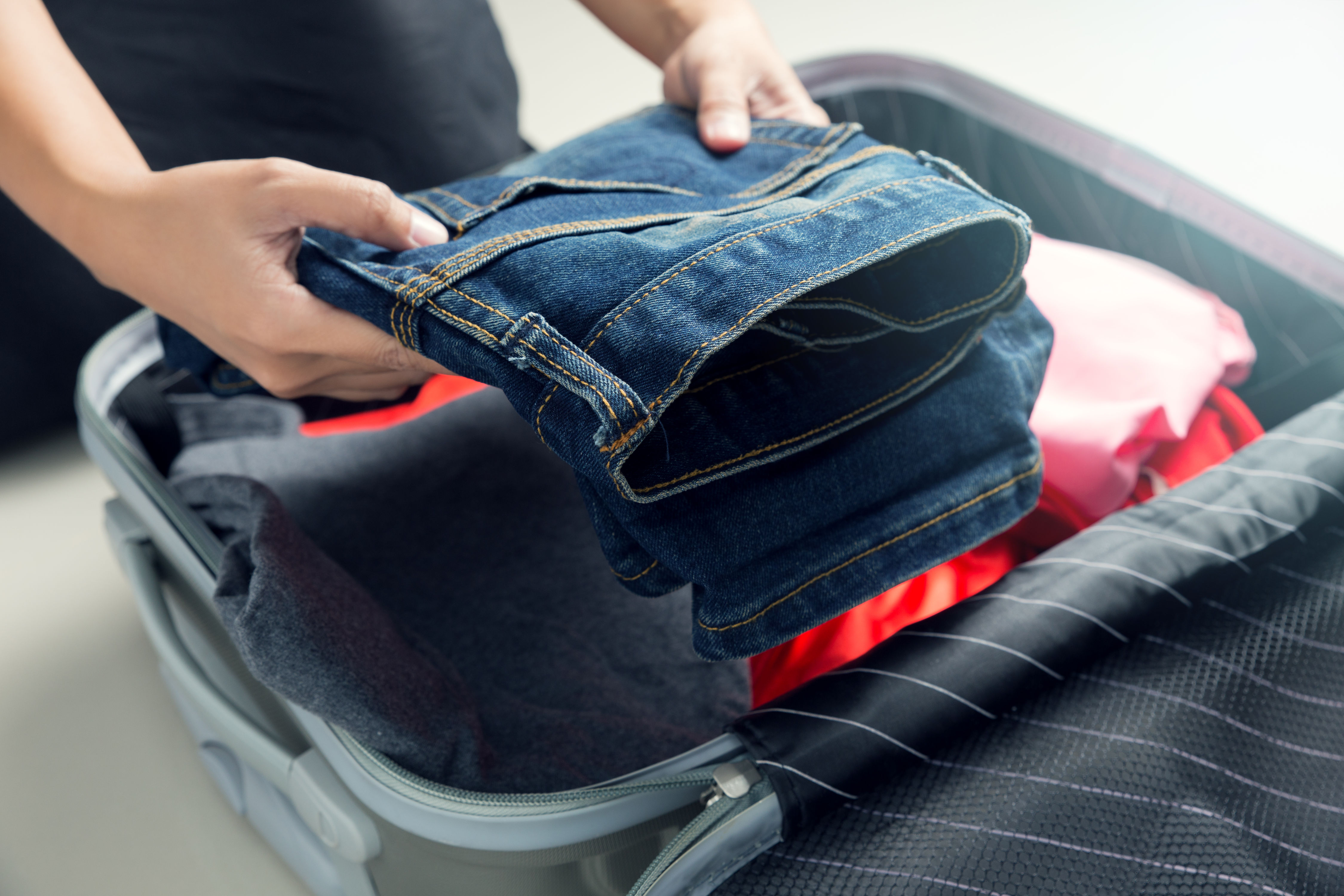 This Genius Hack for Packing Jeans Will Change Your Suitcase Forever