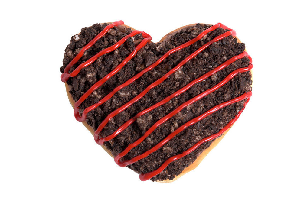 Krispy Kreme's Oreo Doughnut May Be the Sweetest Way to Give Your Heart Away