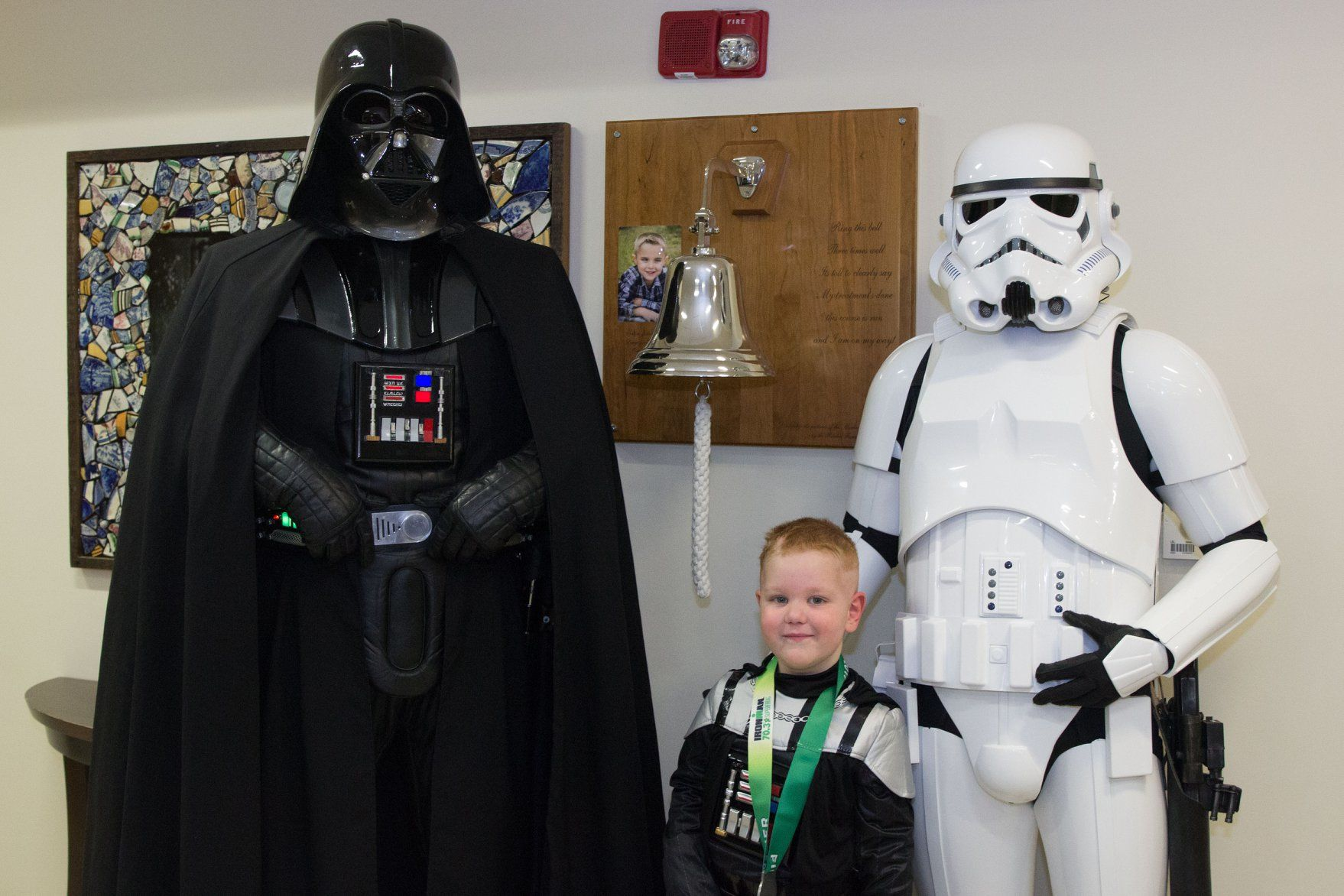 Kentucky Boy with Incurable Brain Cancer Celebrates Last Treatment with Star Wars Heroes