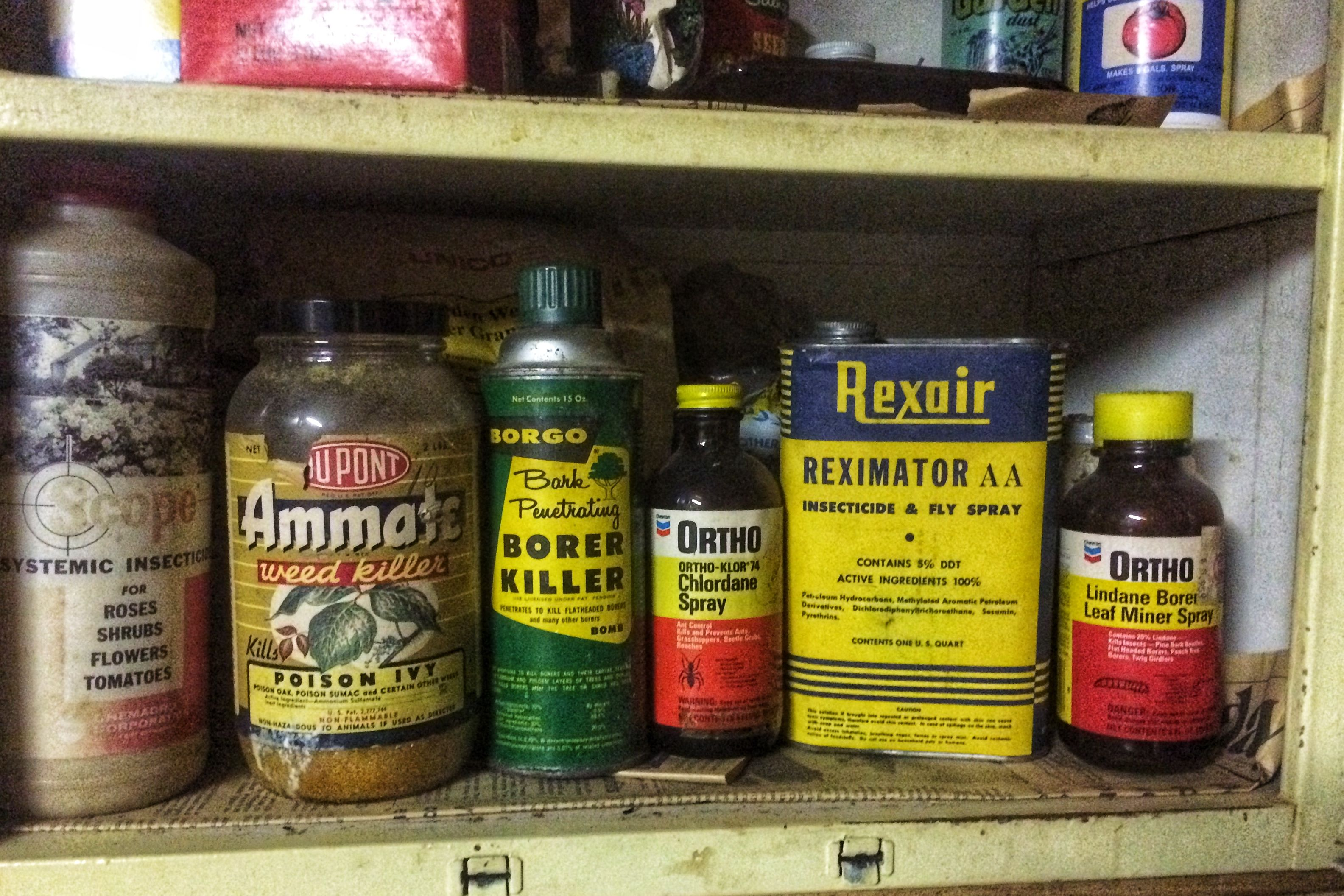Don't Store Old Garden Chemicals