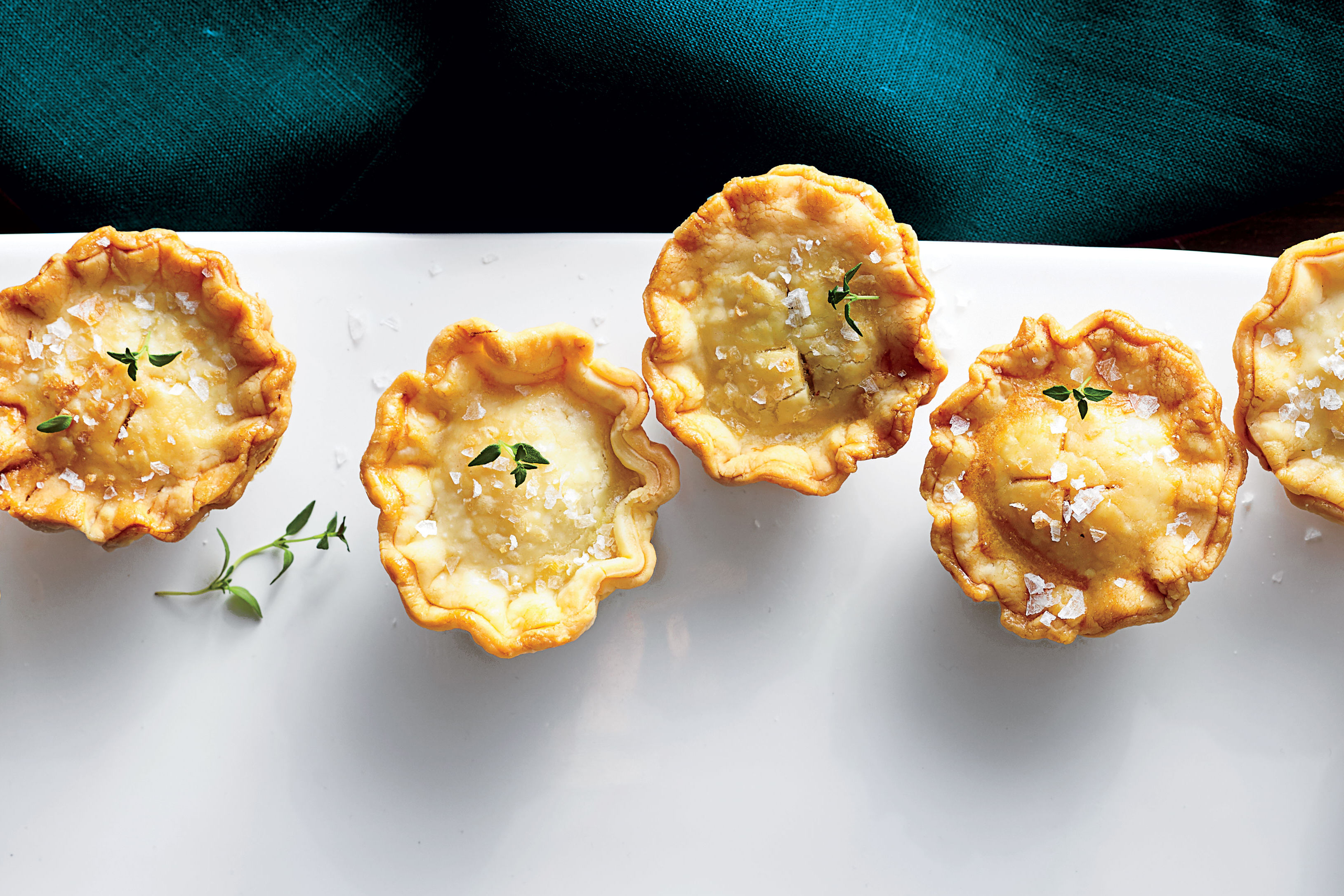 Mini Mushroom-and-Goat Cheese Pot Pies Recipe