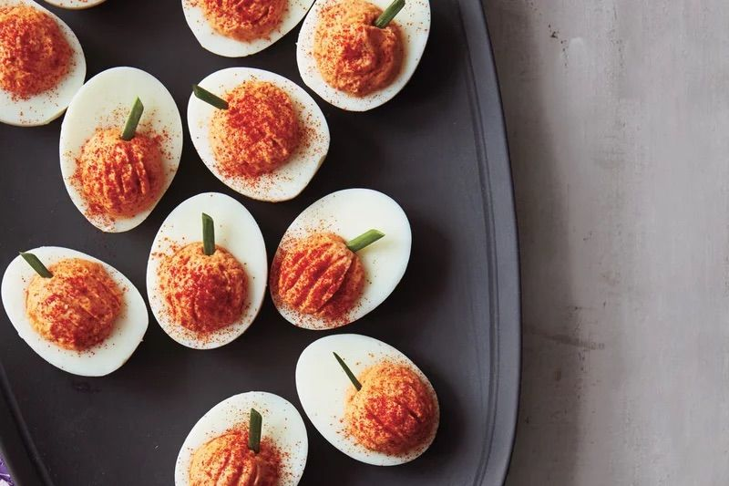Roasted Red Pepper Deviled Eggs Recipe