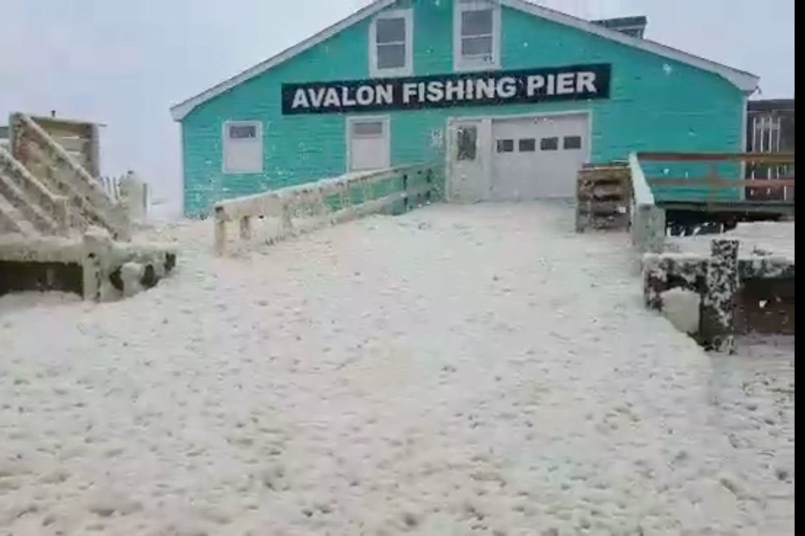 The Outer Banks Gets a Surprising Sea Foam Snowfall