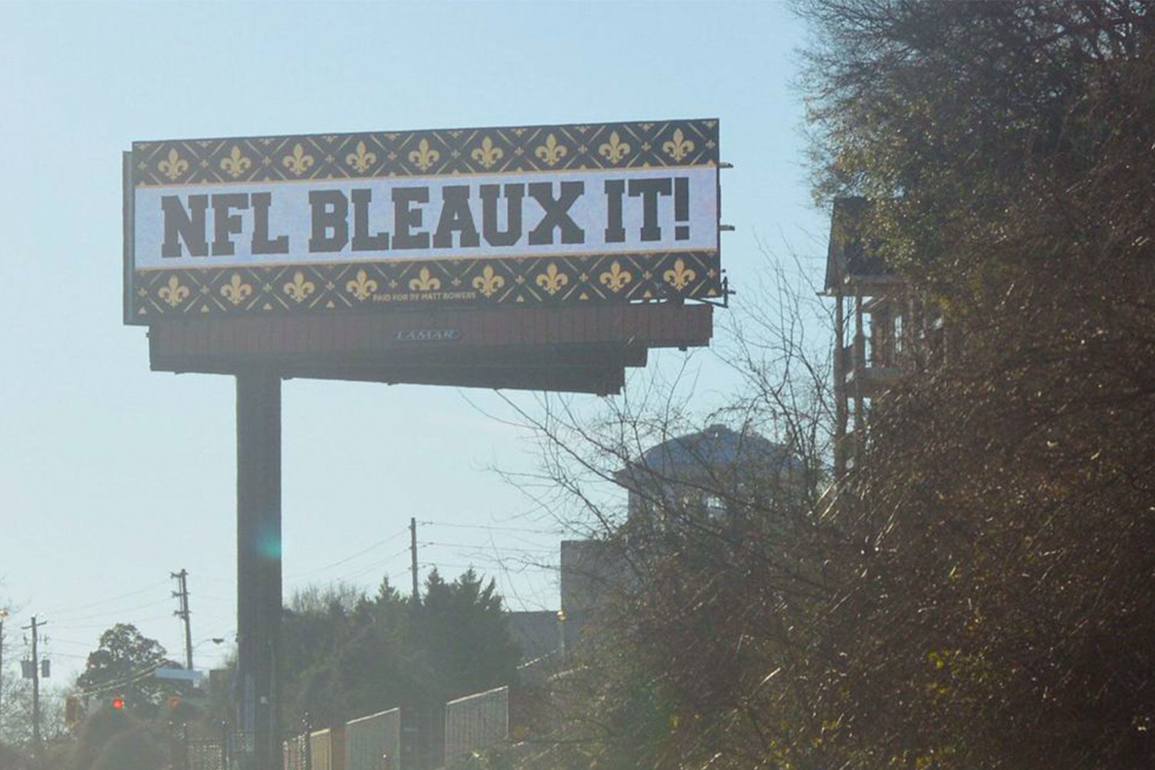 WATCH: Angry Saints Fan Covers Atlanta With Billboards Ahead of Super Bowl