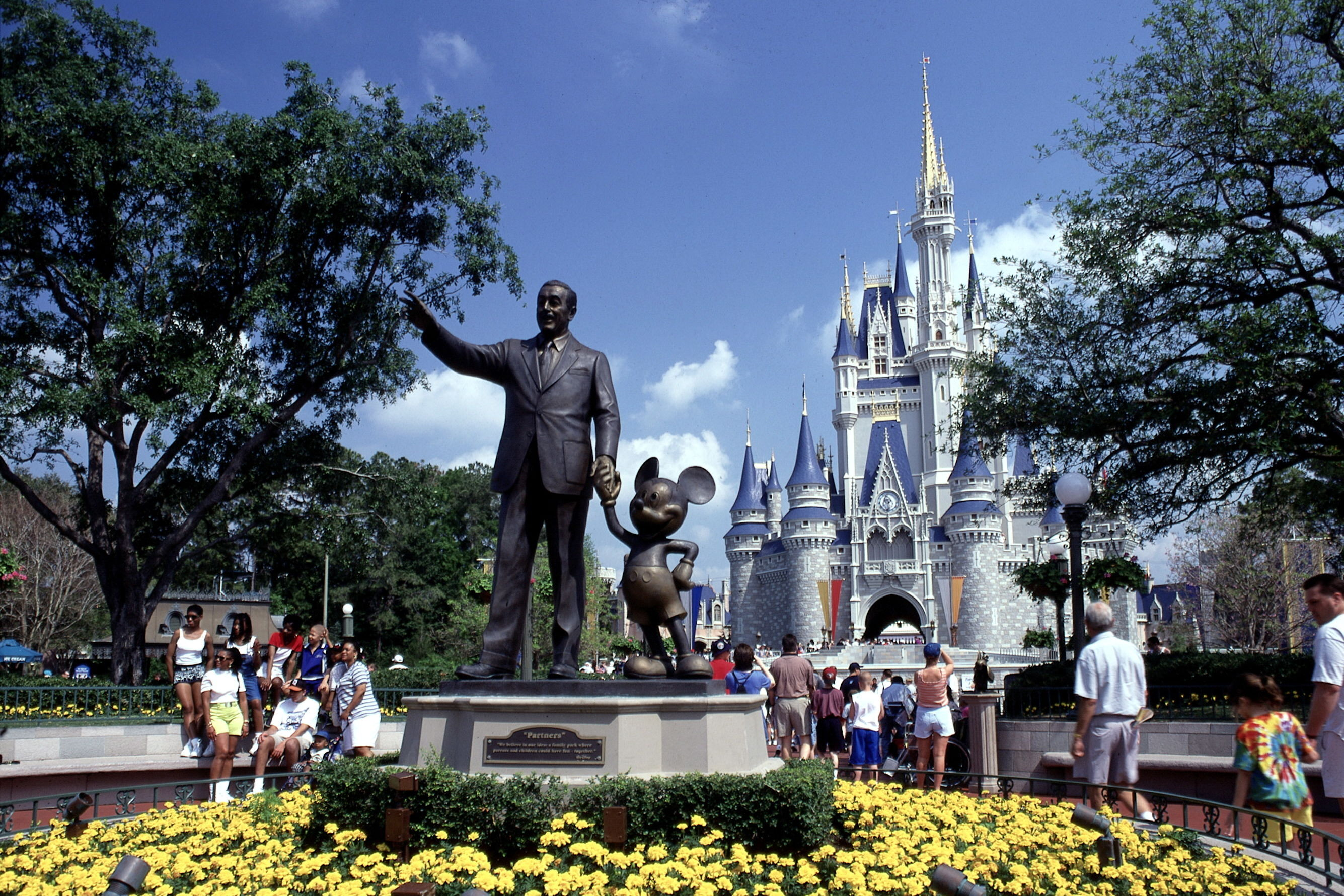 Disney World Hides Its Unmagical Parts by Painting Them with This Shade of Green