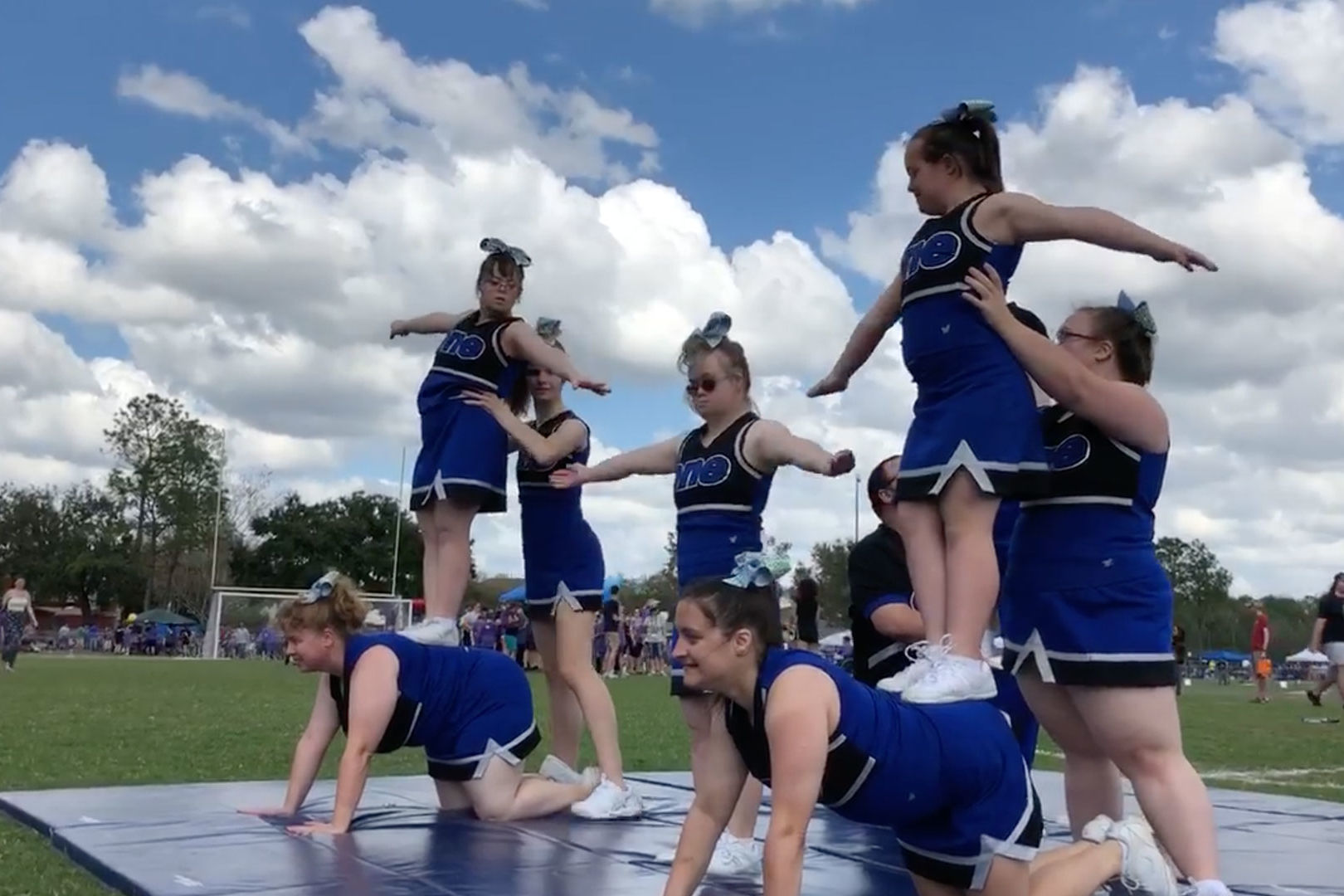 Special Needs Cheerleading Team Wows with Elaborate Routine