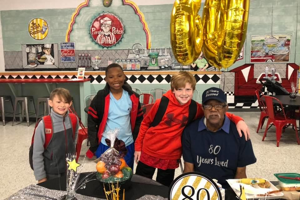 Georgia Elementary School Throws Surprise Party for Cherished Custodian's 80th Birthday