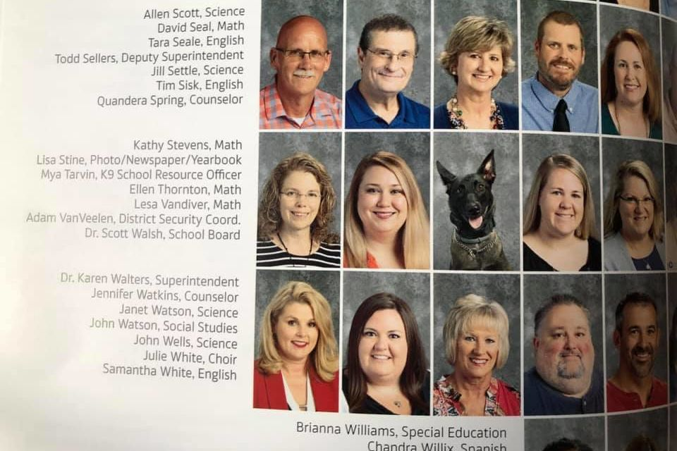Smiling K9 Resource Officer Gets Spot in High School Yearbook