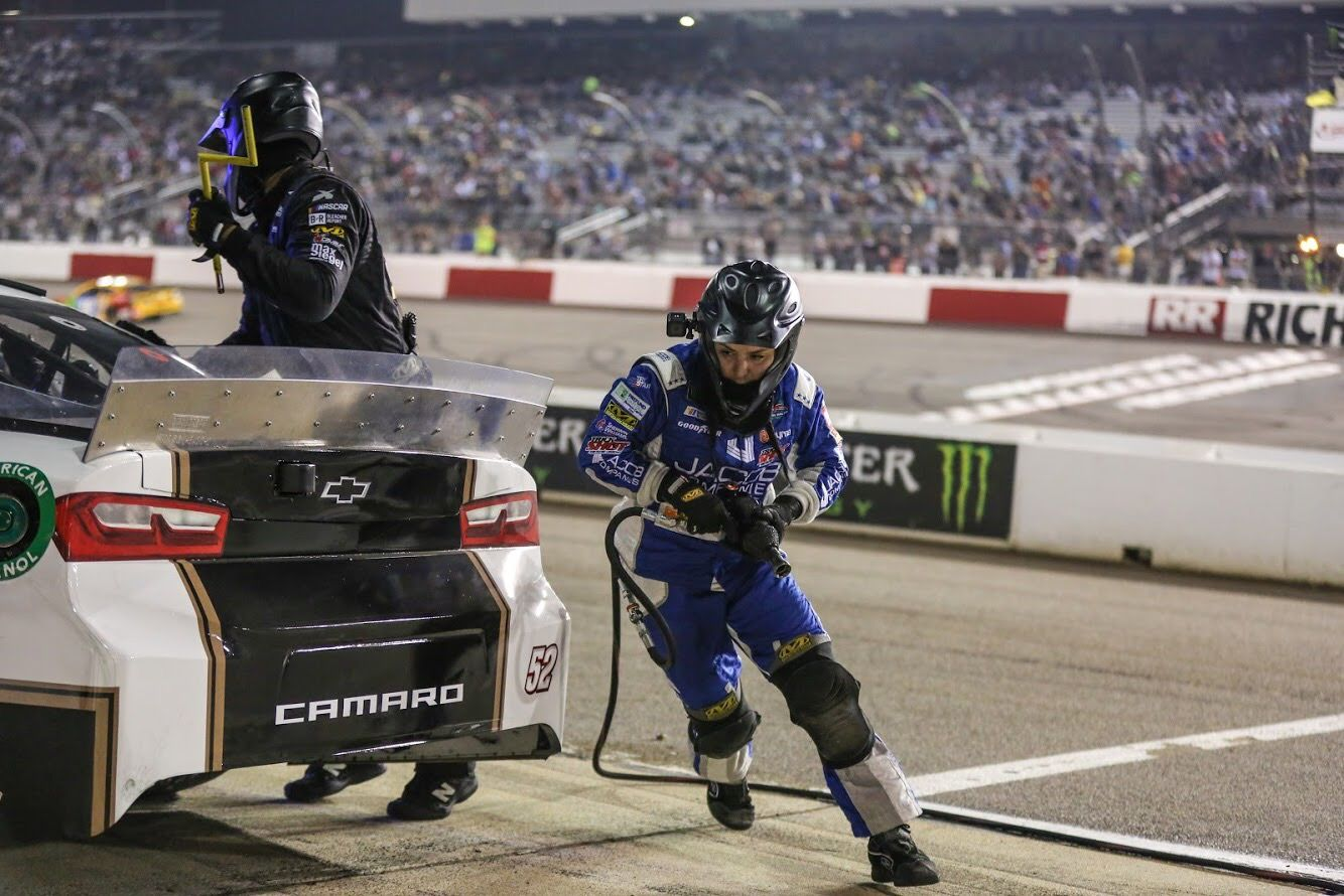 This Texan is One of NASCAR's Only Female Tire Changers