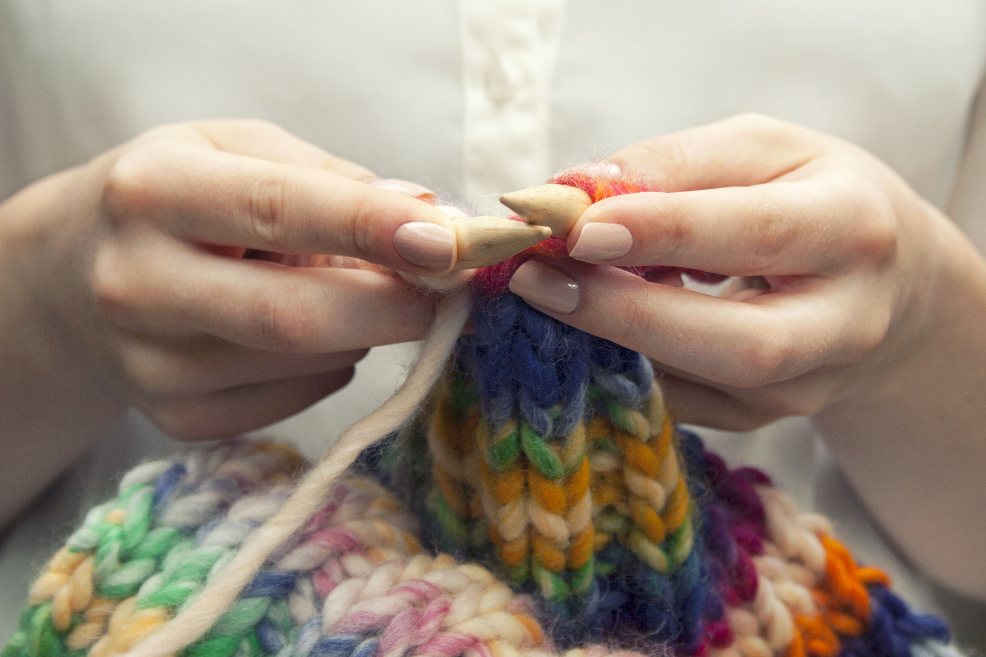 Knitting Therapy? More Americans Learning to Knit for Stress Relief