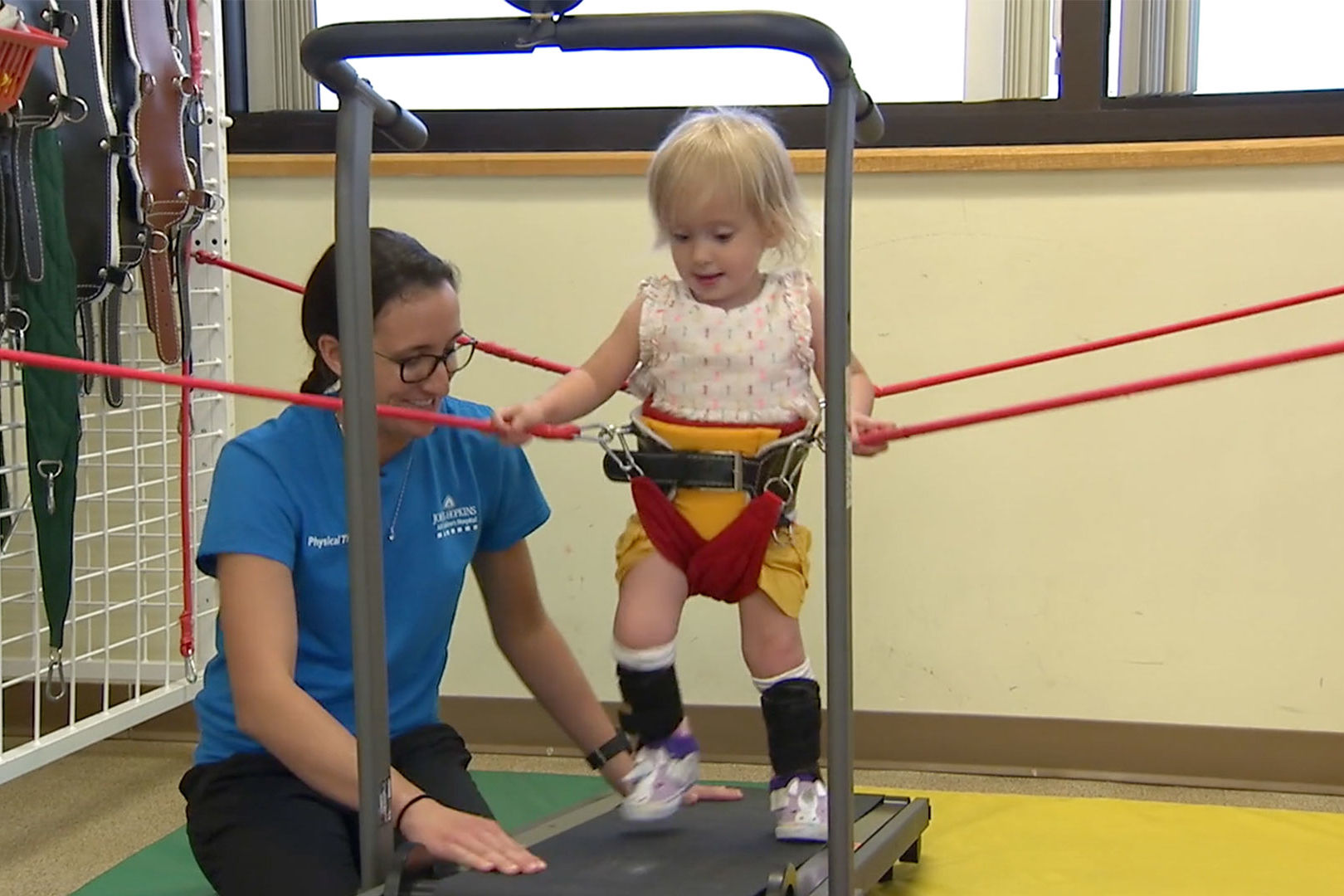 "2-Year-Old Girl with Severe Spina Bifida Learns to Walk with Help from ""Baby Shark"""
