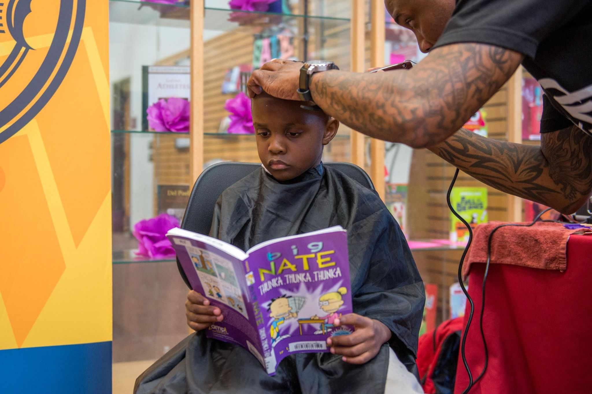 Free Libraries in Houston Barbershops Encourage Kids to Read