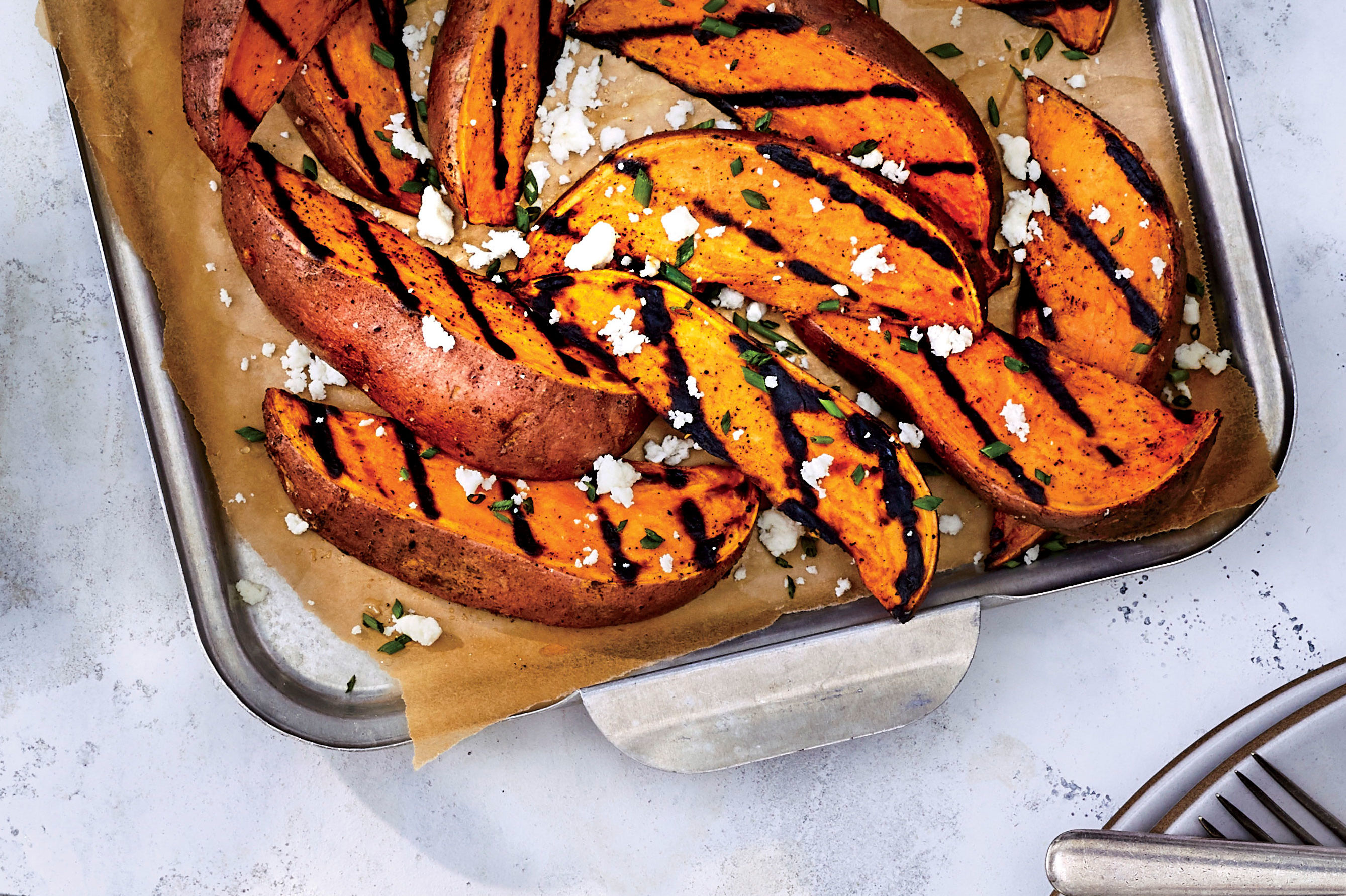 Grilled Sweet Potato Fries Recipe