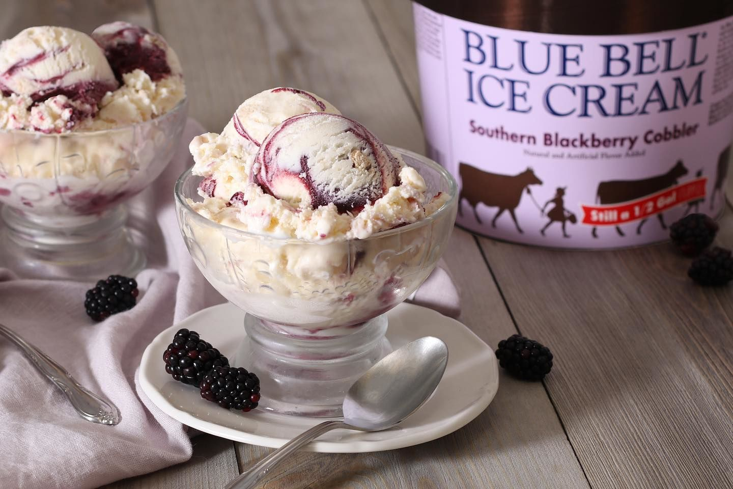 Blue Bell's Southern Blackberry Cobbler is Back for the Summer!