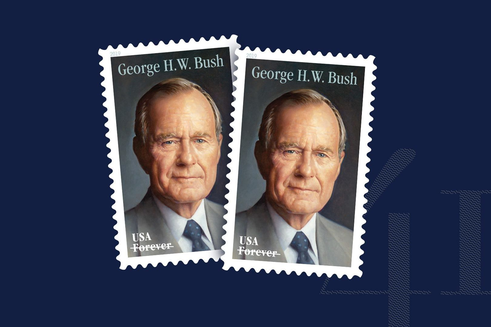 USPS Releases New Forever Stamp Commemorating Former President George H.W. Bush