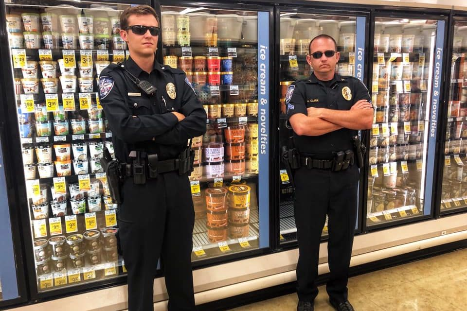 Texas Police Officers Guard Blue Bell Ice Cream Following Nauseating Viral Licking Video