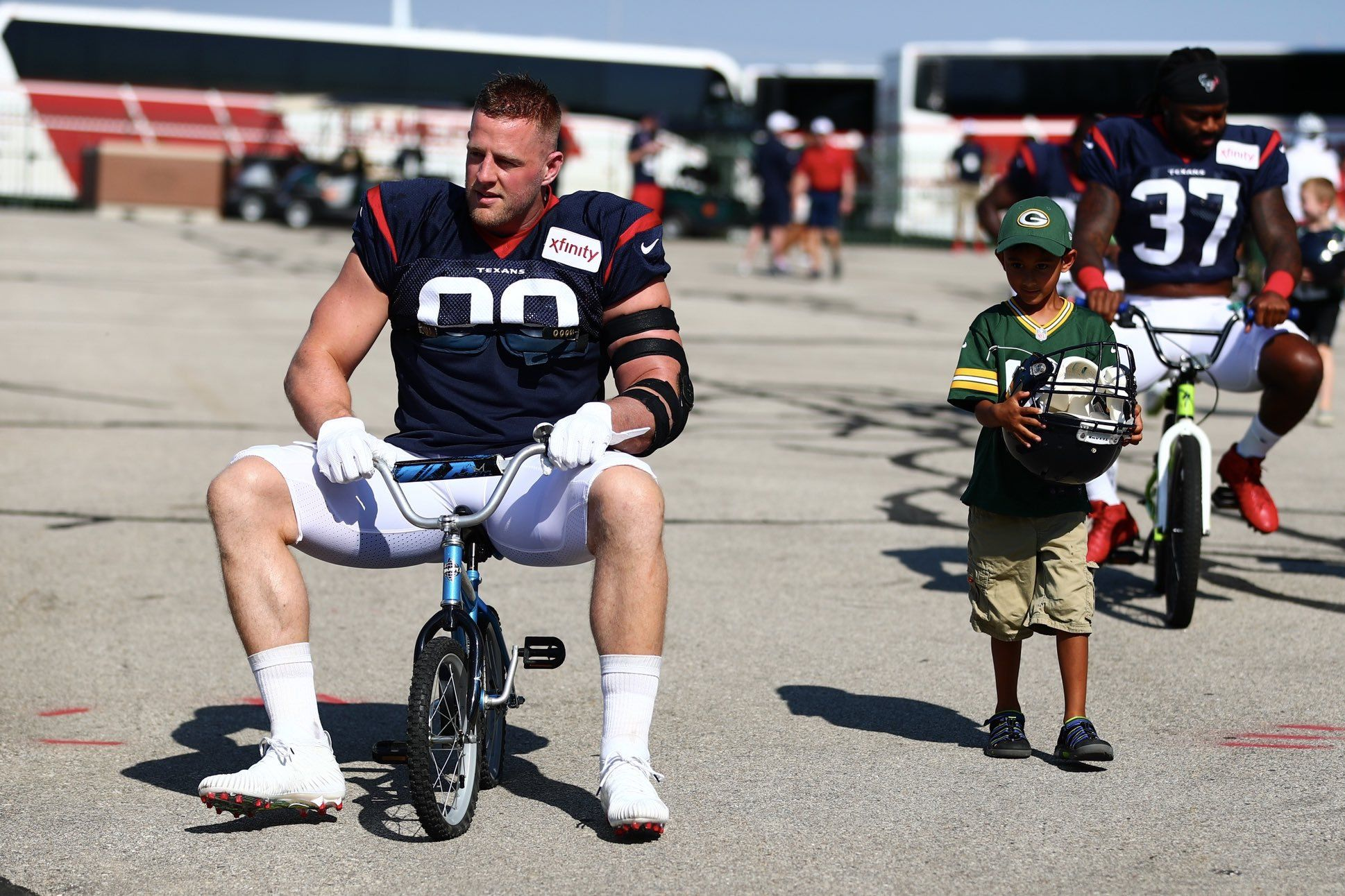 """Big Man"" J.J. Watt Breaks 5-Year-Old Fan's Bike, Promises to Replace It"