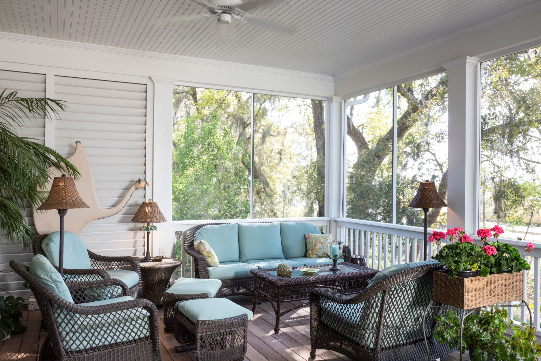 5 Tips For Your Screened-In Porch from Designer Elle Cole