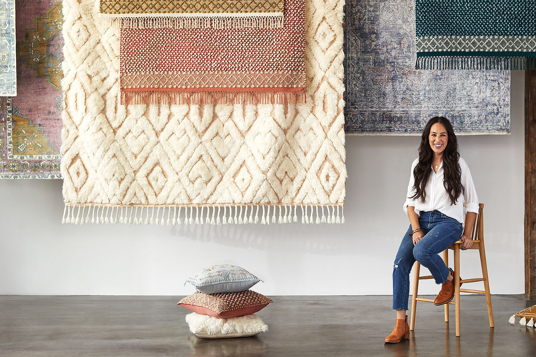 Joanna Gaines Launches 'Subtle, Classic' Collection of Rugs and Pillows at Anthropologie