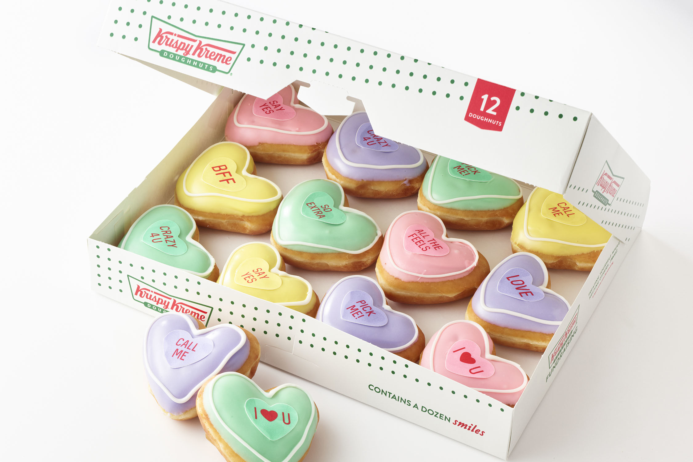 Krispy Kreme Debuts Conversation Heart Donuts Just in Time for Valentine's Day