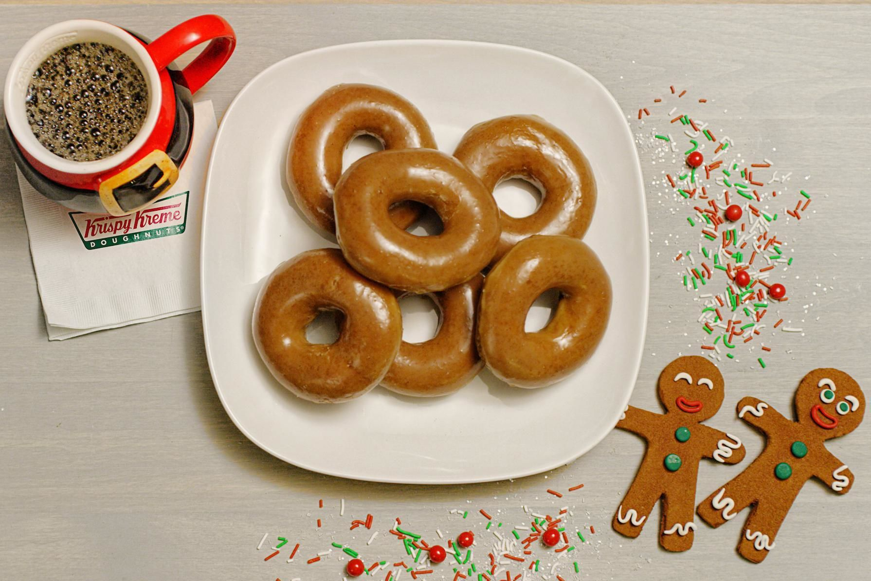 Krispy Kreme's Gingerbread Doughnuts Are Coming Back