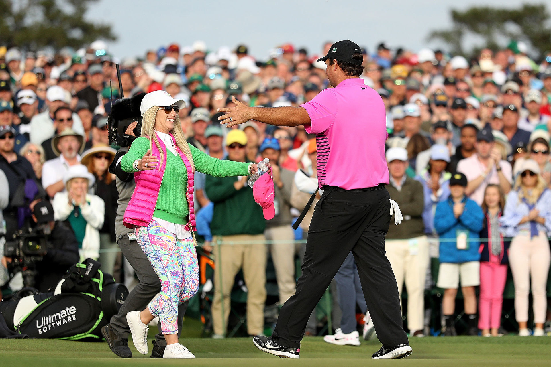 Patrick Reed May Have Won the Masters, But Wife Justine's Lilly Pulitzer Leggings Won the Day