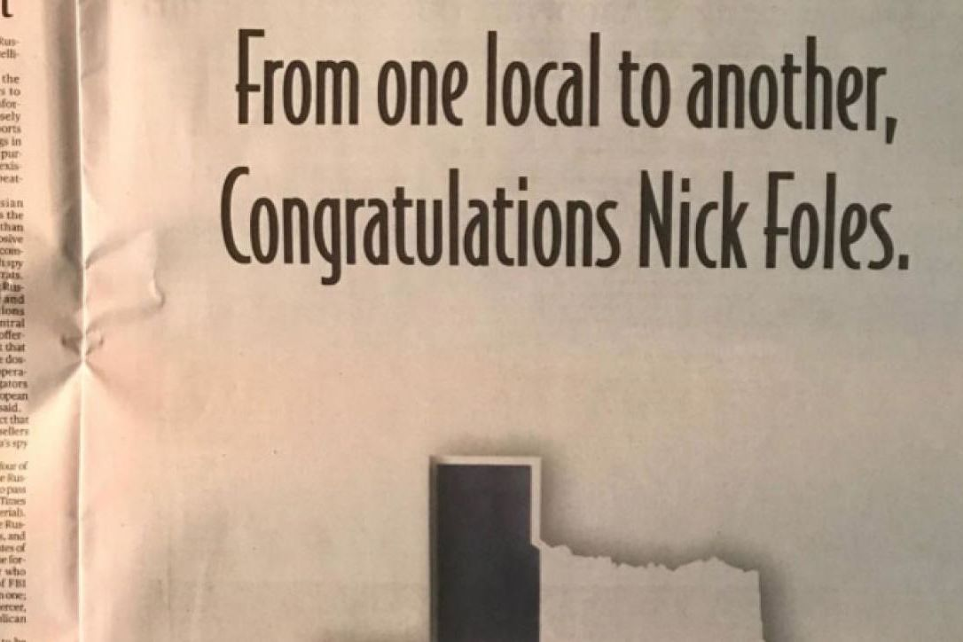 Matthew McConaughey Takes Out Full-Page Newspaper Ad for Nick Foles