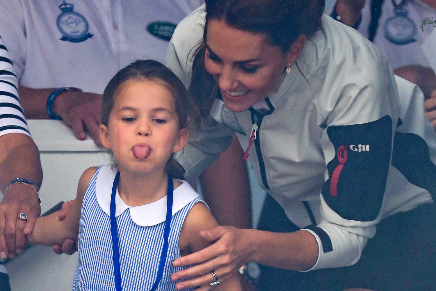 Princess Charlotte Sticks Her Tongue Out at Photographers and Shocks Mom Kate in Hilarious Video