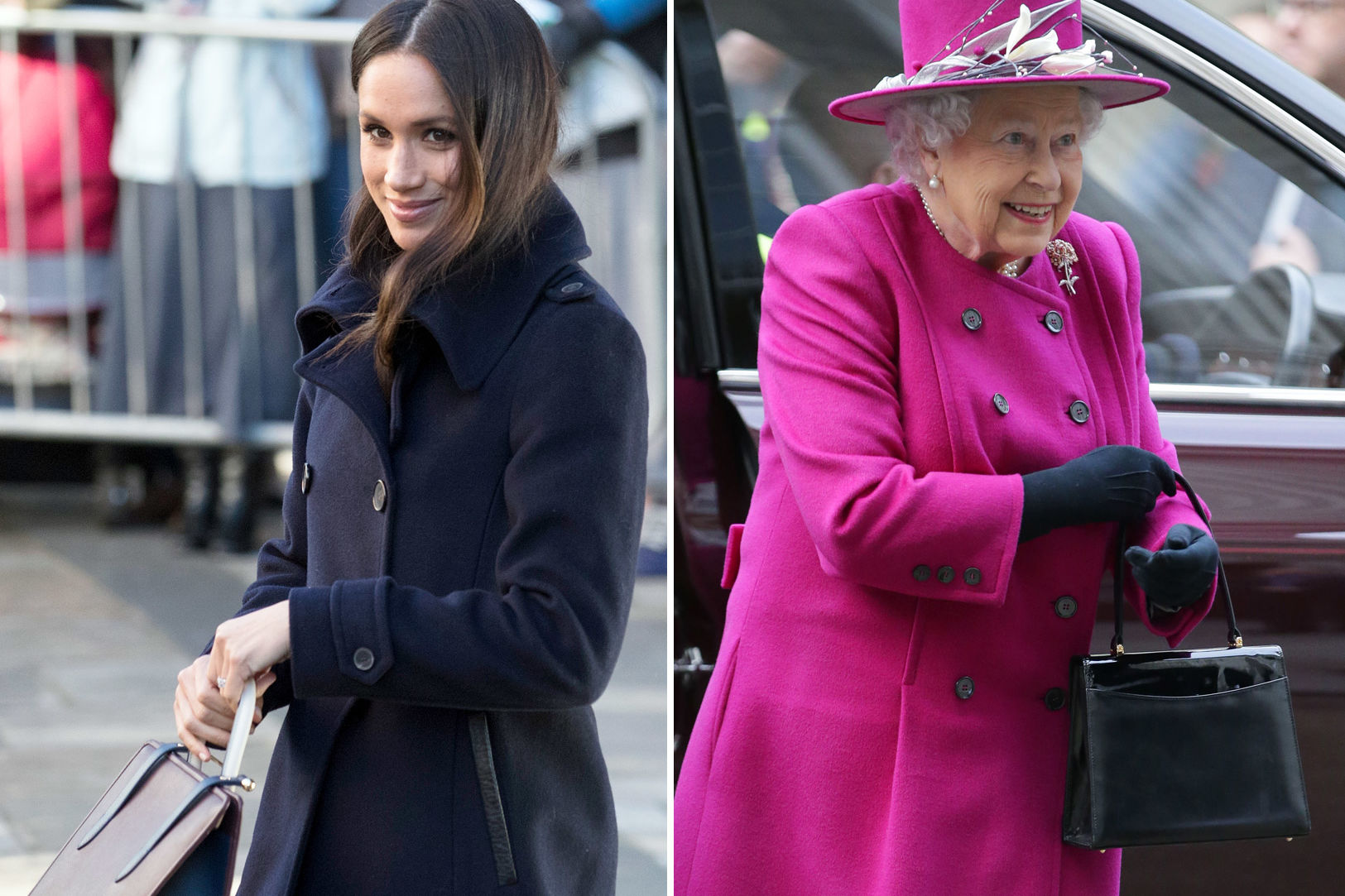 Meghan Markle Takes Purse Cues From Queen Elizabeth! What's Inside Their Handbags?