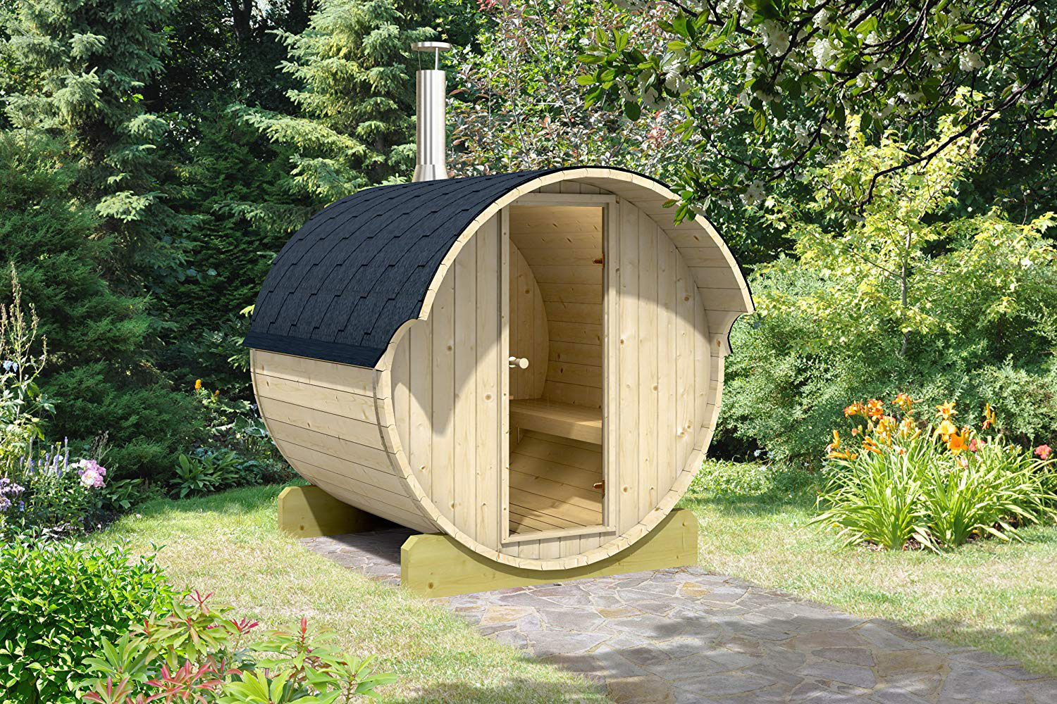 Amazon Is Selling a DIY Backyard Sauna from the Same Makers of the Tiny House that Went Viral