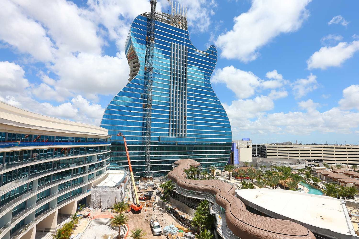 Hard Rock's First Guitar-shaped Hotel in Florida Will Have Swim-up Suites and a Concert Venue