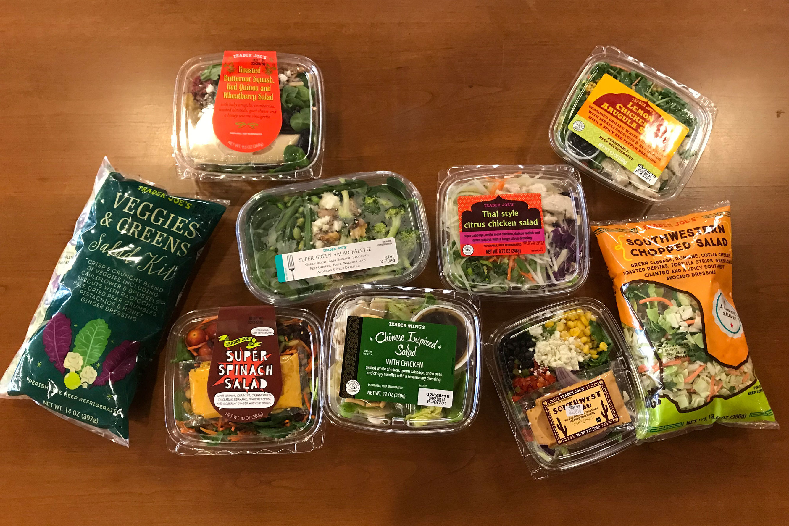 We Tried 9 Trader Joe's Salad Kits—And This One Was Our Favorite