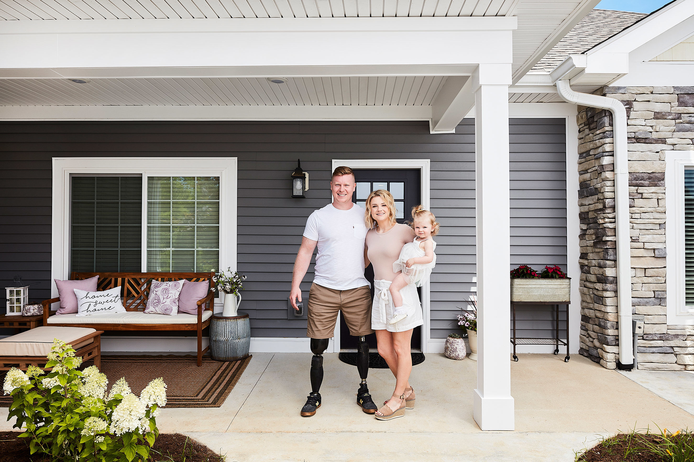 Inside the Specially Adapted Home Wayfair Furnished for a Veteran with a Disability and His Family