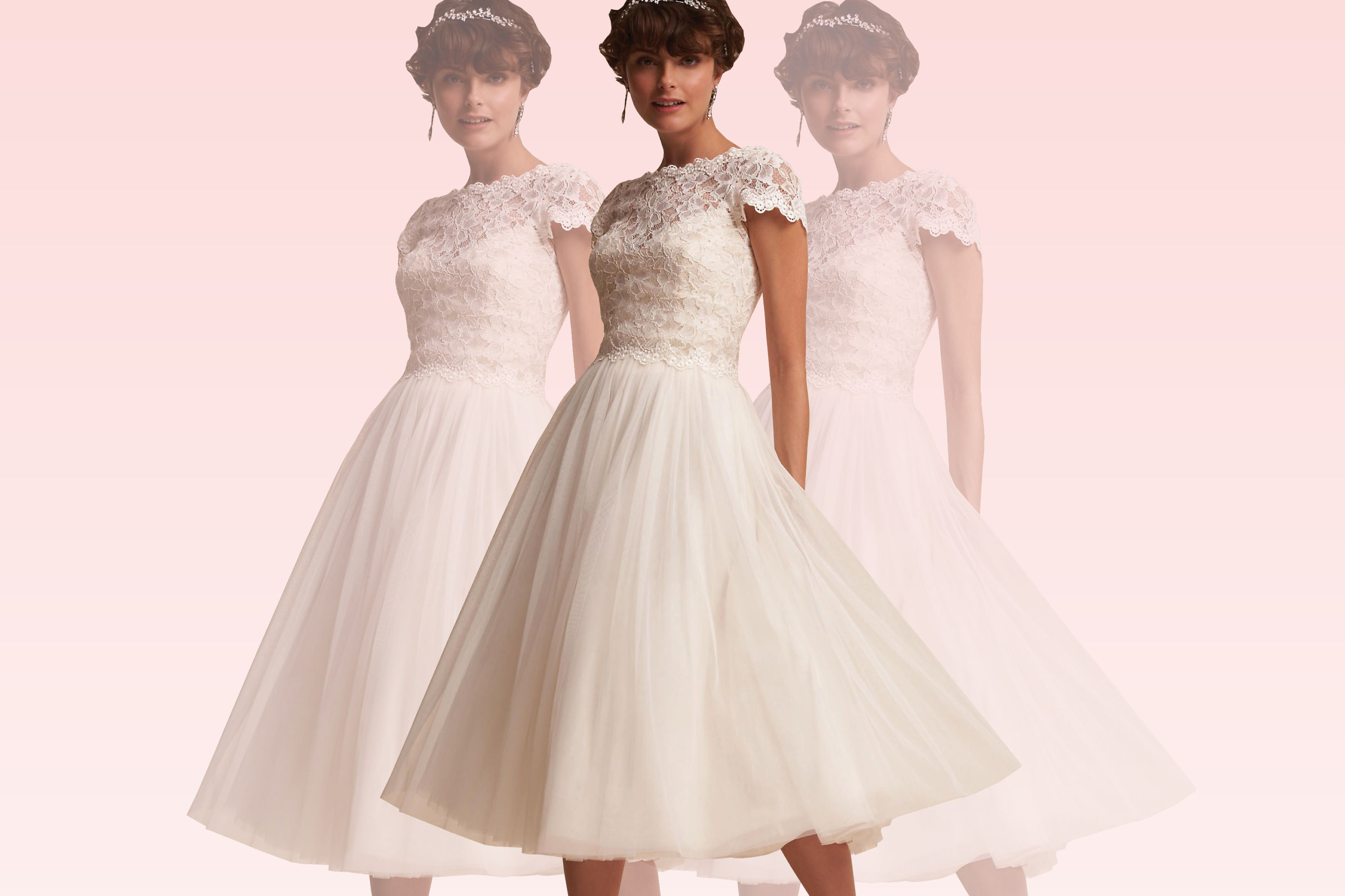 "'80s-Inspired Wedding Dresses for the Bride Who Loves ""Pretty in Pink"""