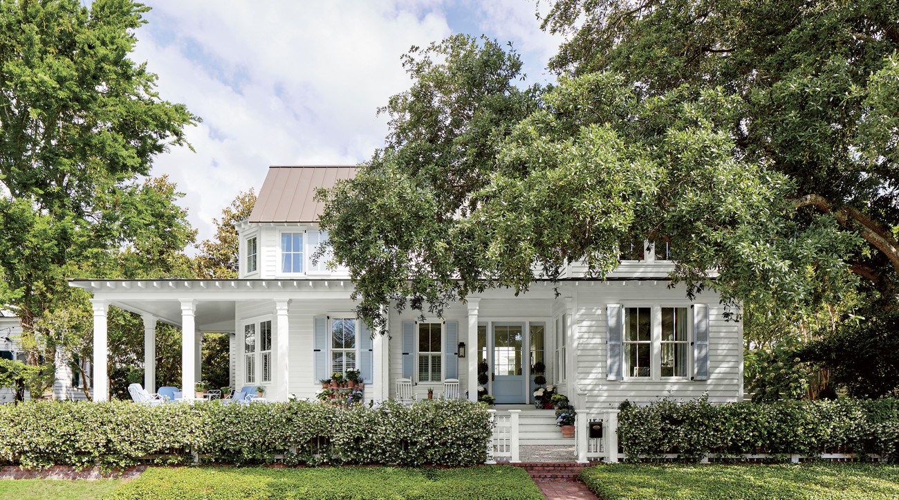 Julia Engel Gal Meets Glam White House with Blue Shutters in Charleston, SC