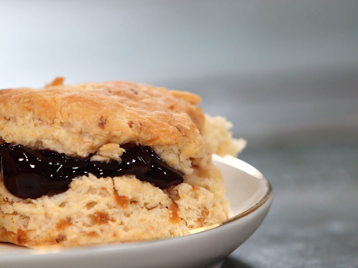Caramelized Vidalia and Yogurt Biscuits Image